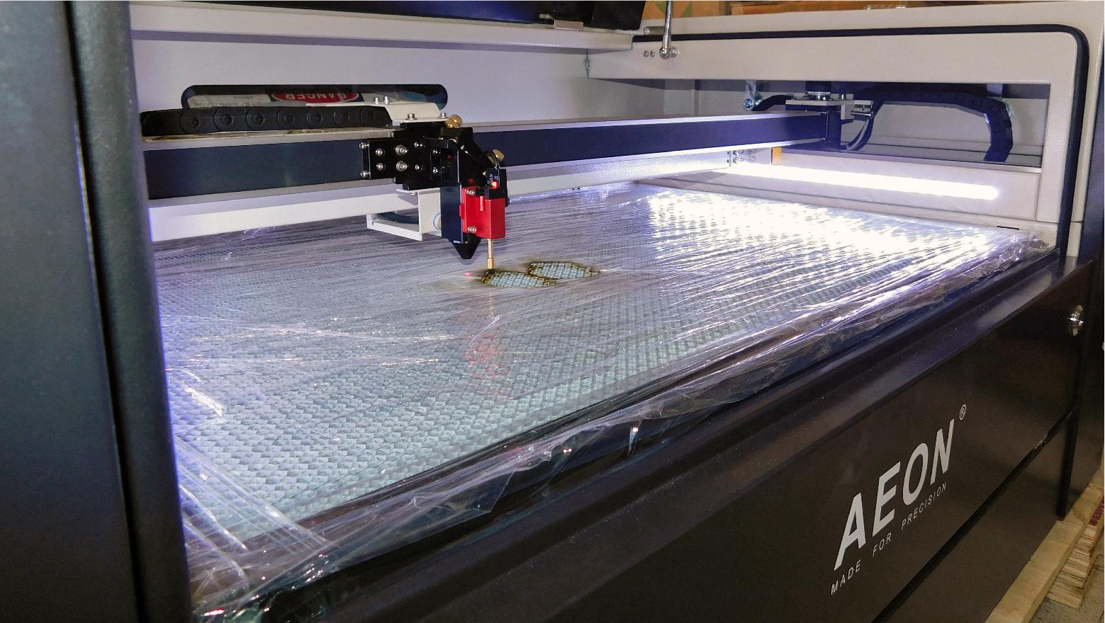 Calibración Maquina laser Co2